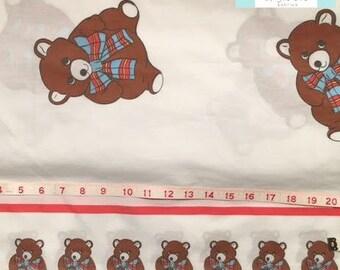 Twin Vintage Teddy Bear Flat Sheet