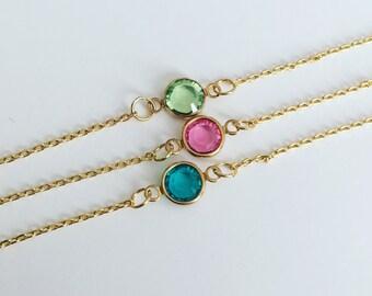 Birthstone Chain Bracelet