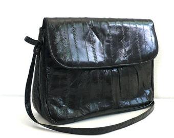 Vintage Black Eelskin Purse