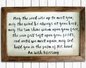 Irish Blessing Hand Painted Wood Sign