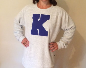 Soft Poodle French Terry Sweatshirts!  Appliqued with your Letter!