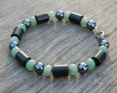 Blackstone, Aventurine, and Hematite Bracelet