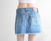 Embroidered denim skirt males