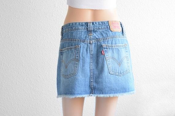 levis high waisted skirt vintage levi high waist denim mini