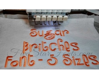 Sugar Britches Embroidery Font - 5 sizes