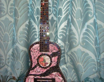 PINK MOSAIC GUITAR