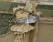 Vintage Spoon Handle Bracelet, 1920s Silver Spoon Handle Bracelet, Art Deco Silver Spoon Bracelet, Re Purposed Silverware Bracelet, Spoon
