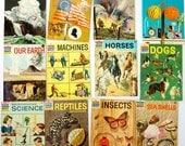 The How and Why Wonder Books 60s Set of 12 Pb / Vintage Childrens Science History Books