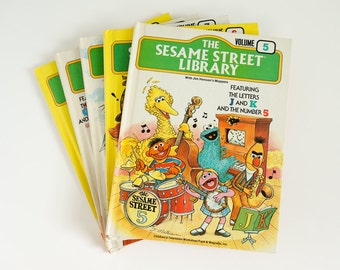 Vintage 1970s Childrens Book / The Sesame Street Library Hc / Choose Your Volume