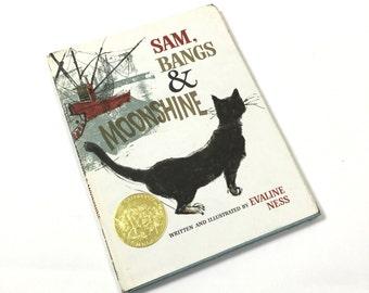 Vintage 1960s Childrens Book / Sam, Bangs and Moonshine by Evaline Ness 1966 HcDj / Caldecott Medal Winner