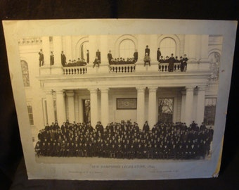 New Hampshire Legislature 1899 Large Early Photo