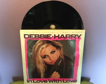 "FINAL SALE Vinyl Record Debbie Harry - In Love With Love 12"" Maxi Single Lp 1987 Remixes"