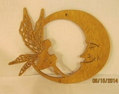 FAIRY On THE MOON Scroll Saw Plaque