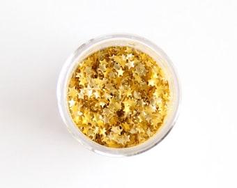 Gold Star Sprinkles, Edible Gold Star Glitter, Star Glitter Sprinkles, Gold Glitter Sprinkles