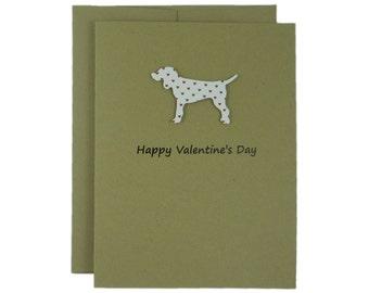 Dog Valentine Card Dog Valentines Card Dog Greeting Card Valentine's Day Card Red Hearts Custom Dog Card for Valentine's Day Single Card