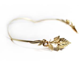 Magical Paula Headband, Golden Leaves Crown, Bridal Hair Accessories, Hand Made Gift, Gold Leaves, Greek Goddess Crown, Grecian Wreath