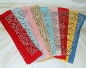 Vintage SHABBY Cotton Bandanna Lot • 9 count • worn bandana
