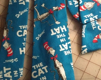 Dr Suess Cat in the Hat Necktie in kids and adult styles