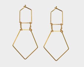 Hex Dangle Earring | R15-E38