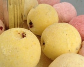 Lemongrass Fizzy Fizzing Bath Bomb yellow Luxurious with Cocoa Butter and Coconut Oil Free Shipping