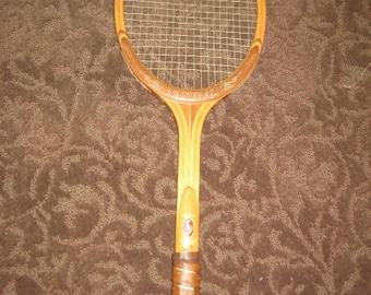 Vintage Spalding Wood Tennis Racket/Sports Decor/Man Cave Sports Item