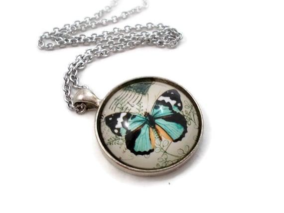 Blue Butterfly Jewelry: Blue Butterfly Necklace Butterfly Jewelry Butterfly Pendant
