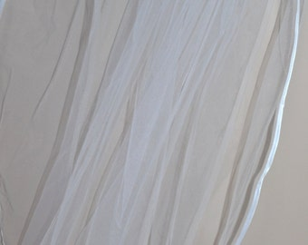 White wedding veil, Ivory wedding veil, Bridal veil, 1 tier wedding veil, White veil, Ivory veil, bridal veil, elbow length