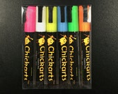 FINAL SALE - Chalk Ink - Chalkboard Marker - Chickarts - 6 Color Pen Set - 6mm