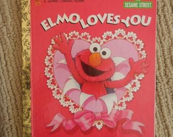 Elmo LOVES You Sesame Street Little Golden Book