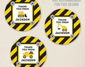 Construction Party Favor Stickers - Sheet of 12 or 24