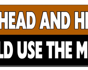 Funny Bumper Sticker - Go ahead and hit me! I could use the money - Quote Me Printing #207