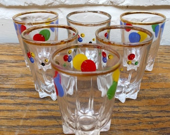 Boxed Set of 6 Vintage Shot Glasses
