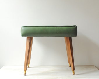 Vintage Mid Century Bench in Green