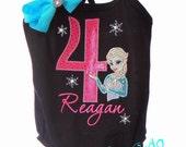 Custom Boutique Frozen Princess Sisters Dancer Birthday Leotard Design Your Own