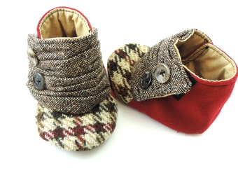 Baby Girl Shoes Baby Boys Shoes Vintage baby shoes Baby Slipper Baby Wedding Shoe  size 6 to 12 month Wool Baby Shoe Recycled Baby Shoe