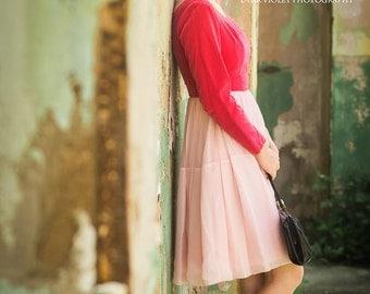 50s Dress 1950s Dress Hot Pink Cocktail Dress Pink Velvet Dress Semi Formal Bridesmaid Dress Prom Dress 1950s Clothing Womens XXS