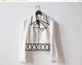 35% off SALE Avant Garde Jacket - Geometric Pattern in Black & White