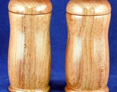Wooden Salt and Pepper Shaker Set - Bubinga