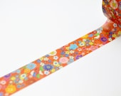 Limited Edition mt Japanese Washi Masking Tape - Japanese Flower Pattern 15mm for packaging, tag making, scrapbooking