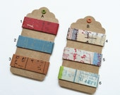 Classiky Japanese Washi Masking Tape-Curated Tape Tags -Graffiti Collect All or Make Your Own! Perfect for Tape Collector