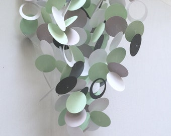 Baby Mobile in Grey, Mint Green, and White, OR Customized colors