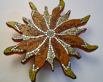 Flower Trivet Stained Glass Mosaic