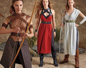 Female Warrior Costumes Pattern, Fantasy Play, Cosplay Pattern, Off World Warrior Costume, Simplicity Sewing Pattern 8074