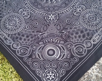 Arcana Bandana - Black and Silver