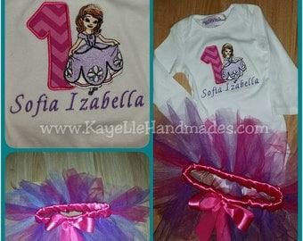 Embroidered Shirt - Birthday Shirt - Custom - Sofia - Princess - The First