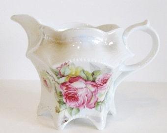 ON SALE Vintage Lusterware Creamer Roses