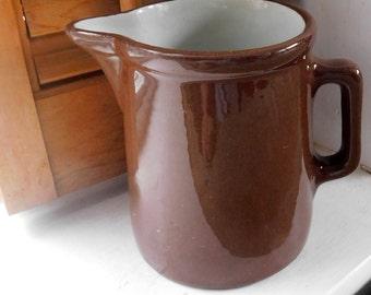 Weller Pottery Pitcher Brown Glaze Pitcher Vintage Farmhouse Pitcher