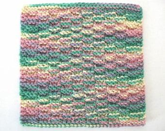 Cotton Dishcloth, Knit Dishcloth, Multicolor Kitchen Dish Cloth Washcloth