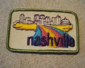 Vintage 1970s  Nashville Tennessee Travel  Patch