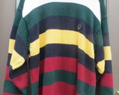 Vintage TOMMY hILFIGER preppy cotton striped mens  sweater size large